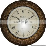 brass metal antique home decor clock