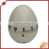 60 minuter timing egg shape plastic white kitchen timer egg