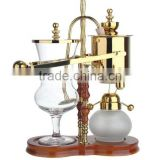 gold royal balancing belgium syphon coffee maker