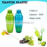 hot sale plastic cocktail shaker bottle for promotion