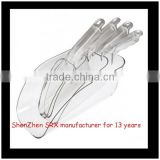 Clear Acrylic Plastic Kitchen Scoops,custom Wedding Candy Dessert Buffet Scoops,custom plastic ice scoops manufacturer
