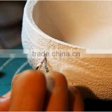 China artificial bonsai wire pots mold ceramic base