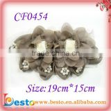 CF0454 New fashion stone fabric flower applique for dressing