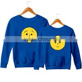 Wholesale Cheap Cotton Polyester Womens Pullover, Custom Lovers Crewneck Screen Print Sweatshirt