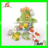 LE A0090 Calvin the Closet Monster Knit Baby Socks and Plush Monster Gift Set
