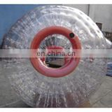 EN71 cold-resistant 0.8mm PVC inflatable water or snow zorb ball, roller ball toy, grass ball customized colours