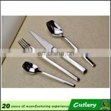 Wedding flatware sliver plated cutlery set staninless steel cutlery