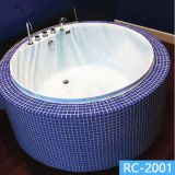 Building projects drop in round bathtub whirlpoor