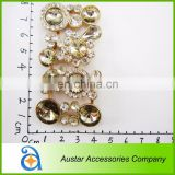 Rhinestone gold shoe charm accessory wholesale