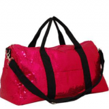 fashion sequin fabric travel bag with long shoulder