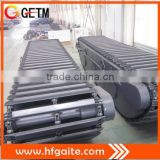 Large scale amphibious undercarriage for 30-33t excavator assembly Q345B steel heavy construction machinery