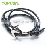 Wholesale Fashion Nautical Anchor Stainless Steel Men's Braided Black Leather Bracelet MEB176