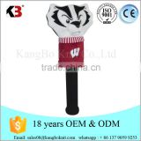 Customized knitted driver pom golf headcover golf club animal headcover manufacturer