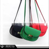 Wholesale Lady Mini Leather Crossbody Saddle Bag
