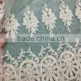 Garment Accessories Ivory fashion embroidery cord lace fabric                                                                         Quality Choice