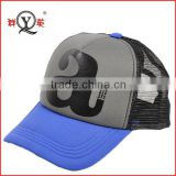 custom printing logo foam fabric half mesh baseball caps