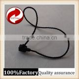 plastic hang tag cord Lock Seal Tags for garment and bag