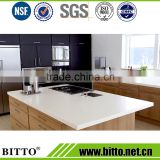 Modern super white acrylic solid surface for kitchen cabinet countertop worktop