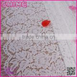 Factory Sale Non-elastic150cm Flower Wide White High Quality garment accessory lace fabric