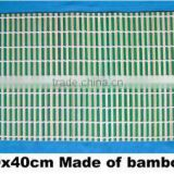 Rectangular bamboo table mat
