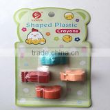 3D car funny shaped plastic crayons