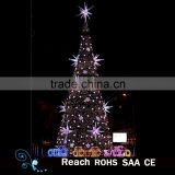 Giant Led motif tree light artificial christmas tree with tree ornaments for outdoor holiday decoration