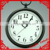 metal classical black with hanger cheap desk and table timepiece wall clock