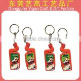 ISO9001 Factory custom soft pvc keychains, PVC keyring, souvenir key holder                                                                         Quality Choice