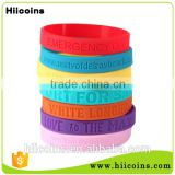 Top grade interchangeable plastic cheap custom silicone bracelet