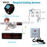 Wireless Call Bell System For Nursing Home Quick Service Watch Personalized Button And LED Display Hot Sale