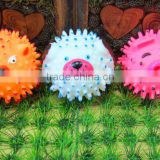 pink plastic ball-8.5cm pink pig spikey ball