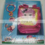 OEM-5PCS LALA HAIR ACCESSORIES SET(BRACELET, RING, PONYTAIL HOLDER,BAG)