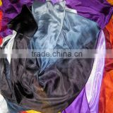 BELLYDANCE HANDMADE TIEDYE PURE SILK VEIL BLACK BLUE PINK,5MM BELLY DANCE SILK VEILS FOR BELLY DANCER