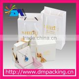 white elegant gold foil stamping paper bag for jewelry