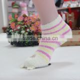 Embroider Animal Designs Girls Terry Microfiber Socks, High Quality Sock Love Heart Designs Baby Girls Terry Microfiber Socks,