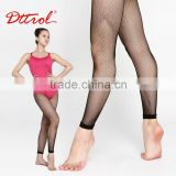 D004812 Sexy women footless capri fishnet tube pantyhose tights black silk stockings