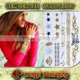 Gold metallic bracelet tattoo sticker