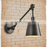 vintage industrial style black iron straight wall lamp for villa/hotel/home                                                                         Quality Choice