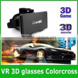 Factory price Plastic Google Cardboard 3D Glasses cardboard Virtual Reality Fit 4.7~6.0 inch google cardboard 3d video glasses