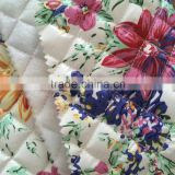 taffeta printing waterproof thermal fabric,plaid printing quilting fabric with embroidery design