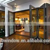 Folding door price PVC/UPVC horizontal accordion glass doors with grills,PVC/UPVC windows and doors