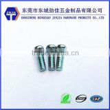 2013 newest carbon steel screw with blue zinc coating for machine