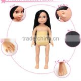 18 Inch nude vinyl girl doll