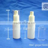 cosmetic with label plastic spray bottles wholesale, 50ml PET plastic throat spray bottle for personal care