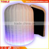 Sale!!! Promotional new LED Inflatable Igloo Photo Booth/ Colour changing LED lights inflatable photo booth for sale
