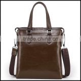 1729 new men's leather handbag vertical version of first layer of leather satchel briefcases one generation