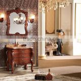K-815 classic bathroom furniture set, Antique design solid wood oak bathroom furniture, used curved bathroom vanity cabinet