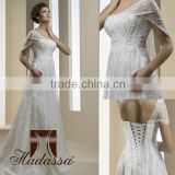 French designe A-line Wedding Dress / Gown Beaded Lace
