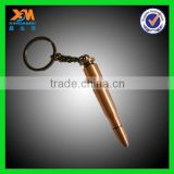 Custom copper, zinc alloy, stainless steel, stainless iron bullet key chain