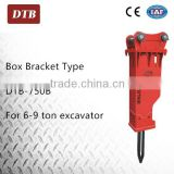 High Qulity 6 to 9 ton skid steer loader cylinder hydraulic breaker